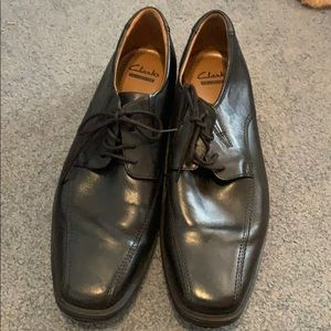 Clarks Collection Black Leather Dress Shoes 11